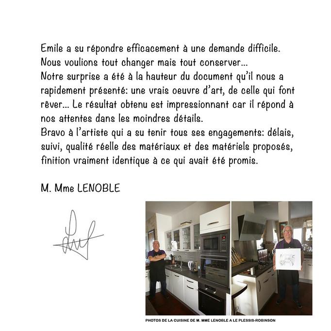 ESQUIZ, avis clients, merci à M.Mme LENOBLE.