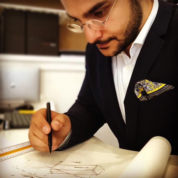 ESQUIZ, Emile Aharonyan, étude sur calque. projet de design.