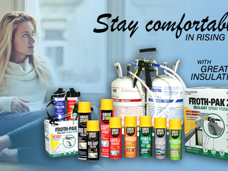 Stay Comfortable in Rising Temps with Great Stuff Insulating Foams
