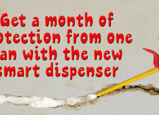 Get a month of protection from one can with the new smart dispenser