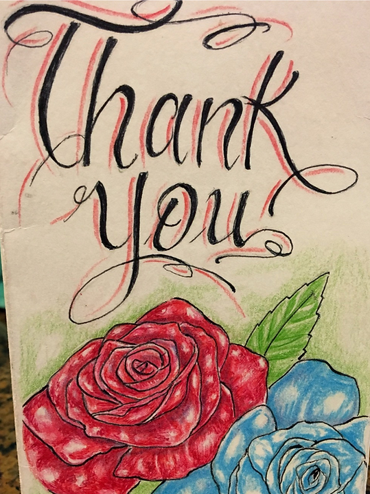 Blameless and Forever Free Ministries receives thank you cards from inmates at Folsom State Prison for random acts of kindness and compassion.