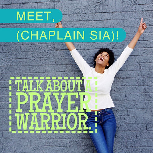 Blameless and Forever Free Ministries Chaplain Sia.  Put Chaplain Sia and Chaplain Tammy together, their quirkiness will saturate the atmosphere with joy and laughter.  Definitely change the atmosphere when they're together because their love and joy for the Lord is contagious.