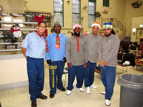 Blameless and Forever Free Ministries and FSP IFC members putting smiles on the faces of our beloveds incarcerated at Folsom State Prison