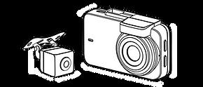 innowa journeyplus dashcamドライブレコーダー 外形寸法