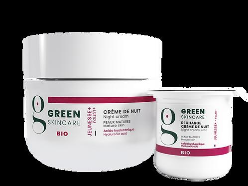 Crème de nuit Jeunesse+  Green Skincare