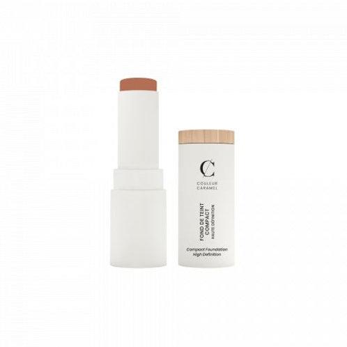 Fond de Teint COMPACT N°15 Haute Définition   Beige Foncé Couleur Caramel