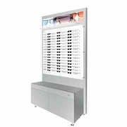 Large Cabinet and Back Boards - Brushed Silver