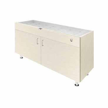 Single Large Glasstop DW Cabinet-Highrise