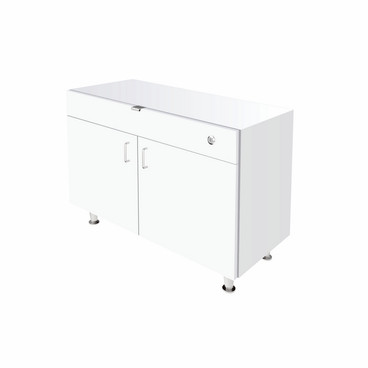 Single Small DW Cabinet - White