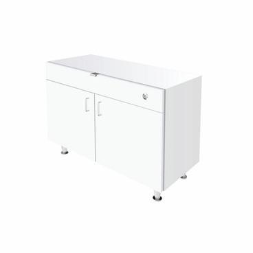 Single Small DW Cabinet - White