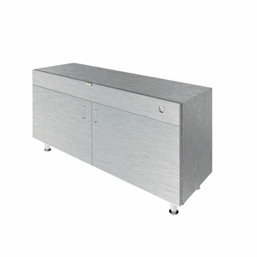 Single Large DW Cabinet - Brushed Silver