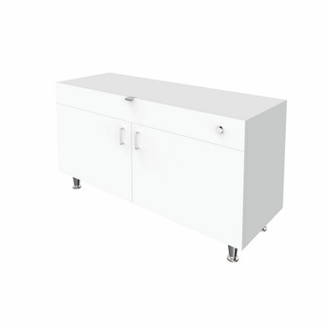 Single Large DW Cabinet - White