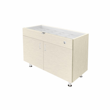 Single Small Glasstop DW Cabinet-Highrise