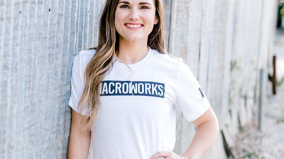 White Unisex MacroWorks T-Shirt