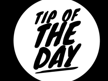 1/16 Tip of the Day