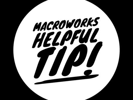 MacroWorks Helpful Tip! Snacks!