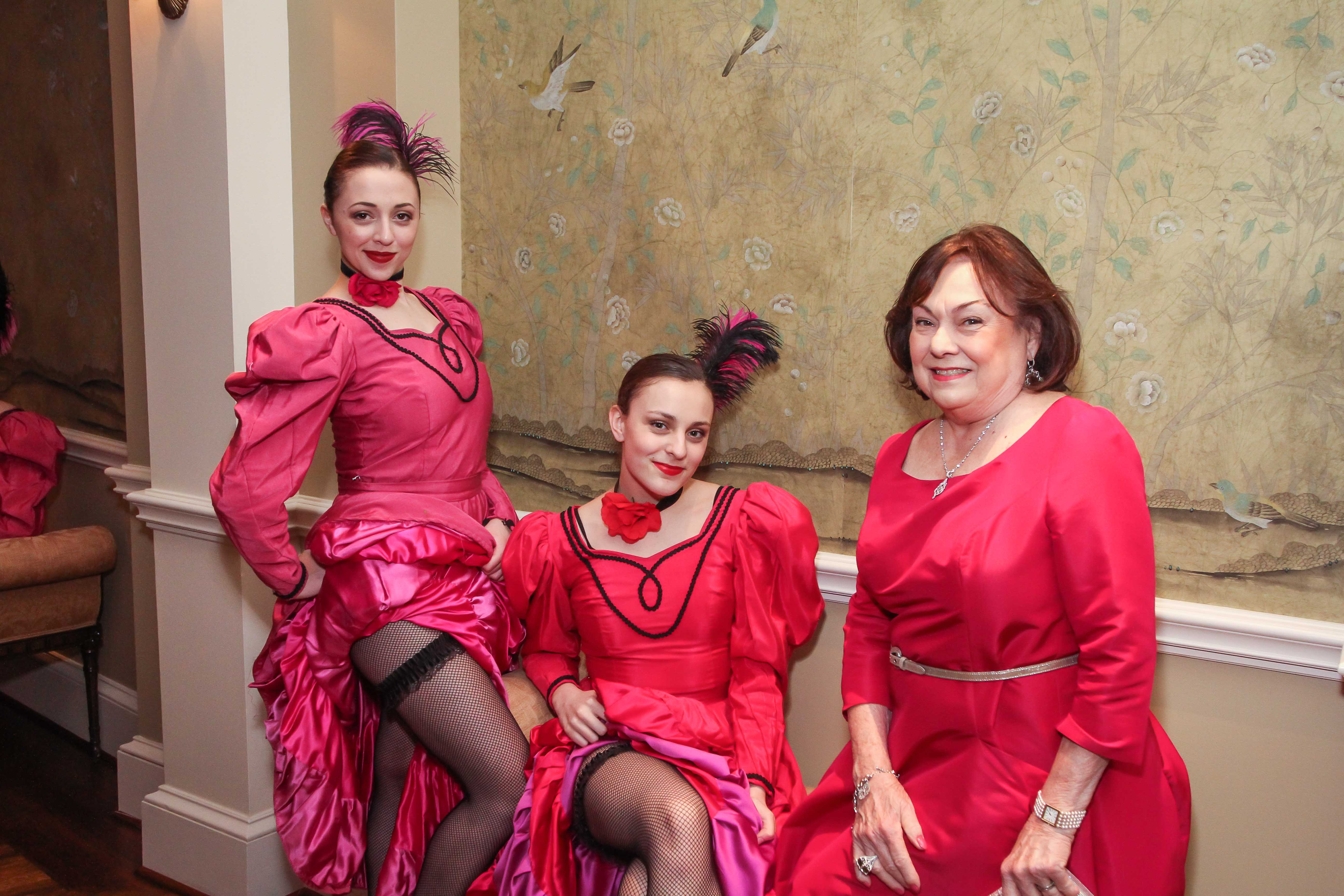 Rose Cullen with Cancan dancers