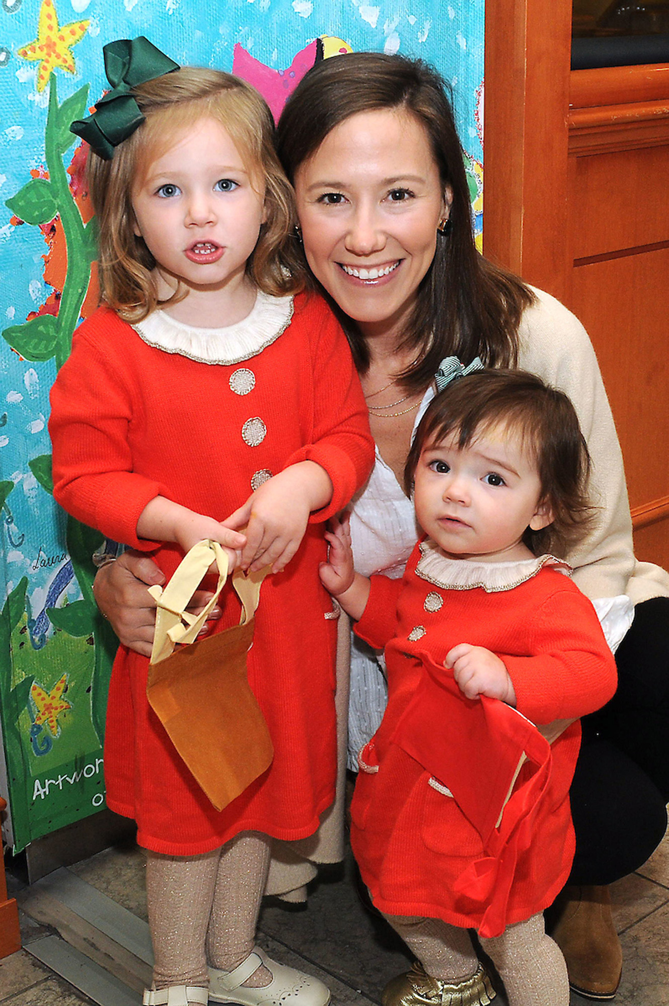 Kathryn Murphy with Lily and Anne