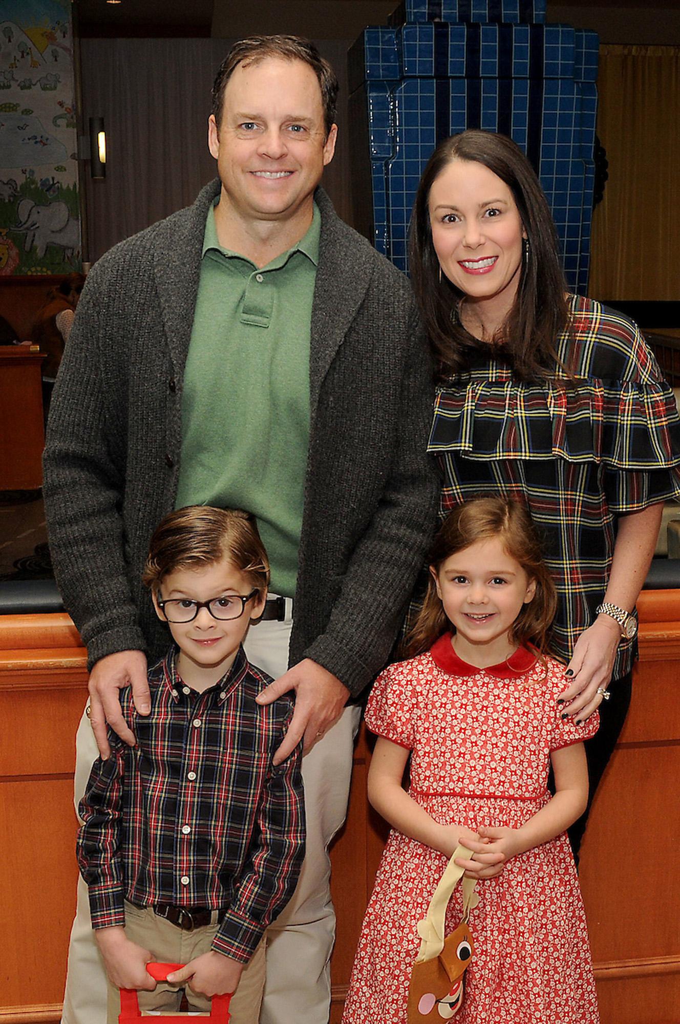 Kristin and Hugh Hamilton with their children Emma and Jack