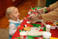 Children decorated cookies at the M.D.Anderson Breakfast with Santa at the Galleria