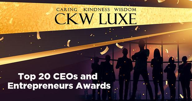 CKW LUXE TOP 20 ESTEEMED CEO AWARD FLYER