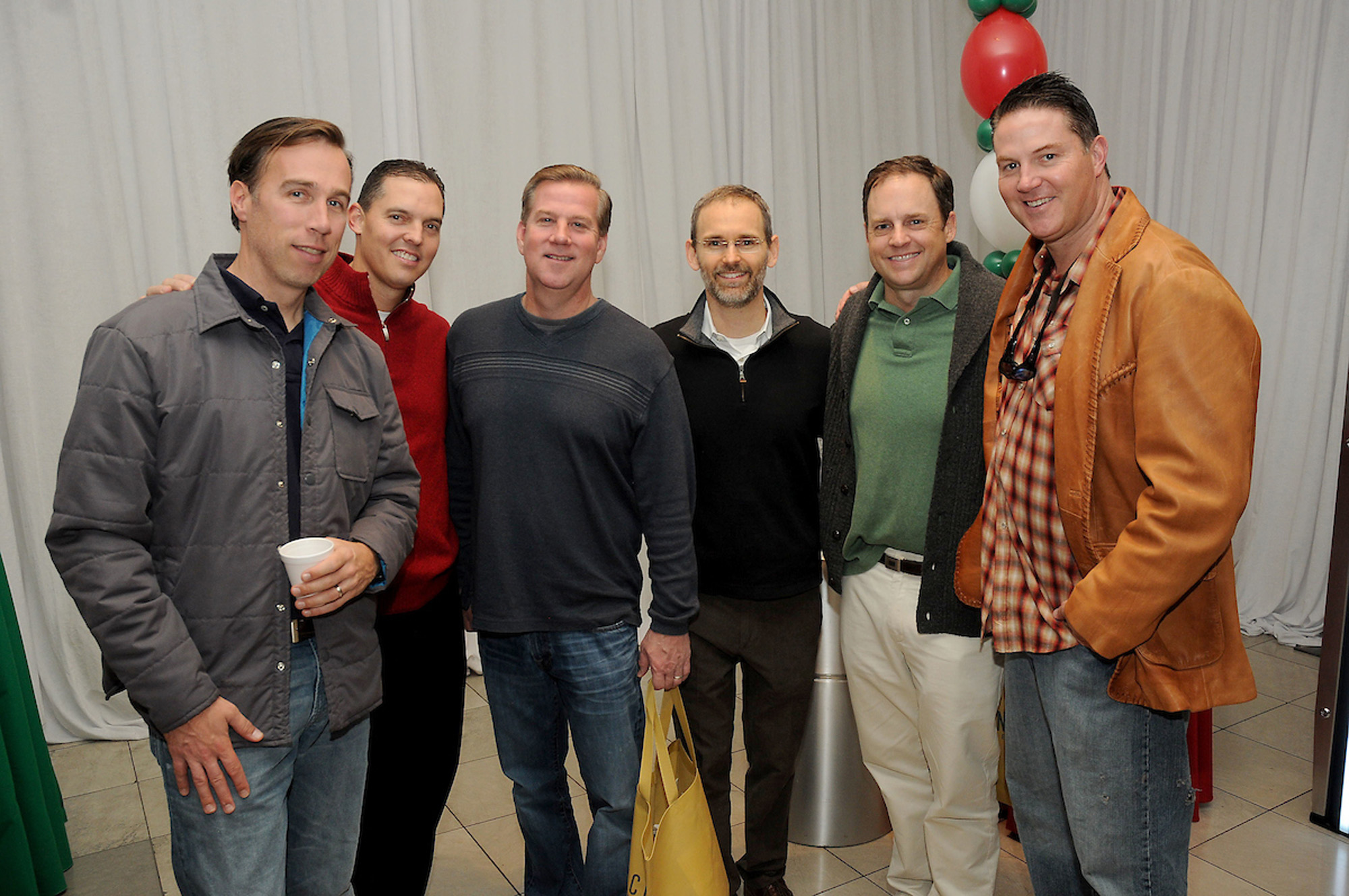 Fathers at the M.D.Anderson Breakfast with Santa at the Galleria