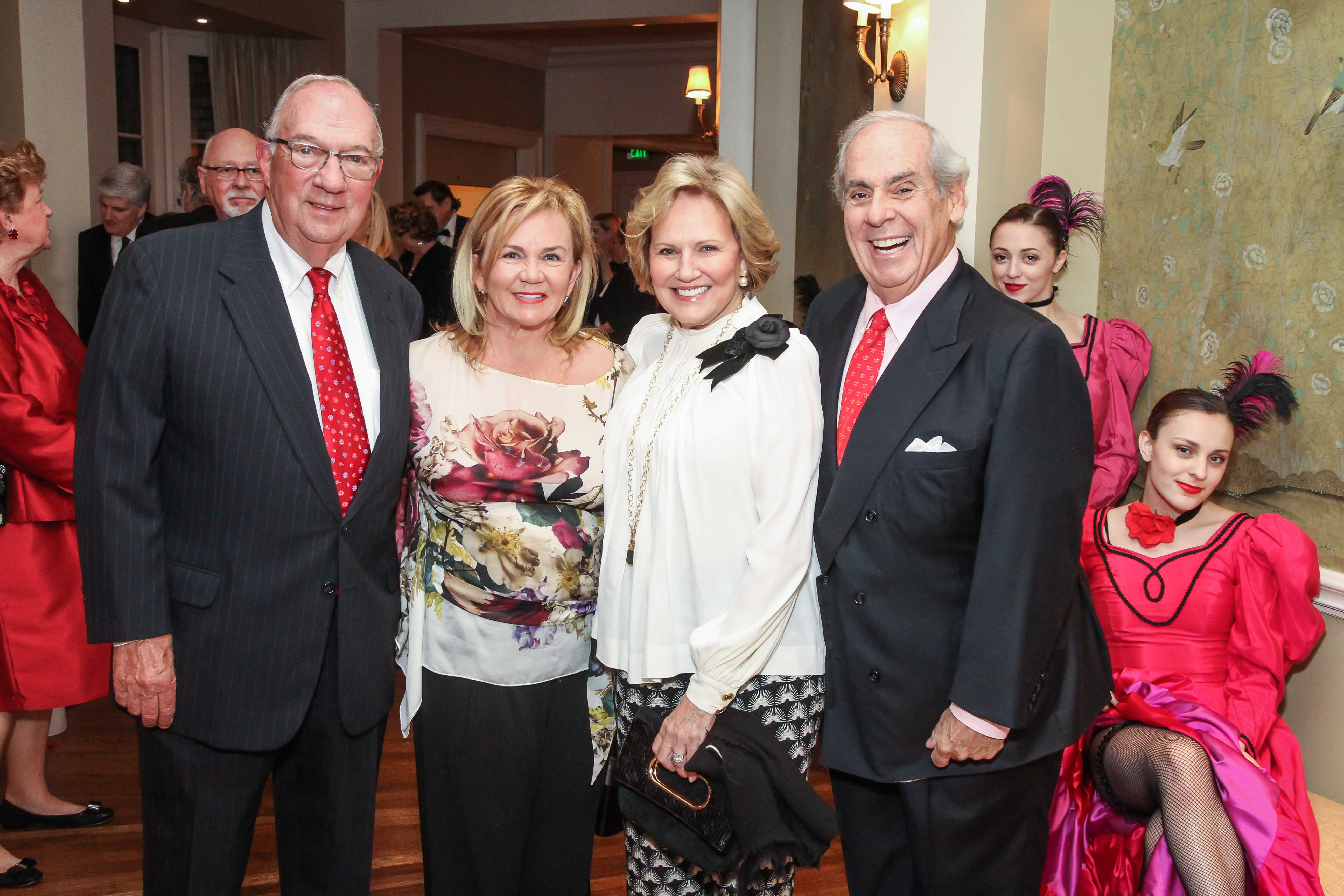 Rolanette and Berdon Lawrence with Debbie and John Daugherty