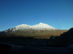 Mount Teide covered in Snow