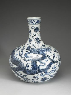 Vase with Flying Dragon