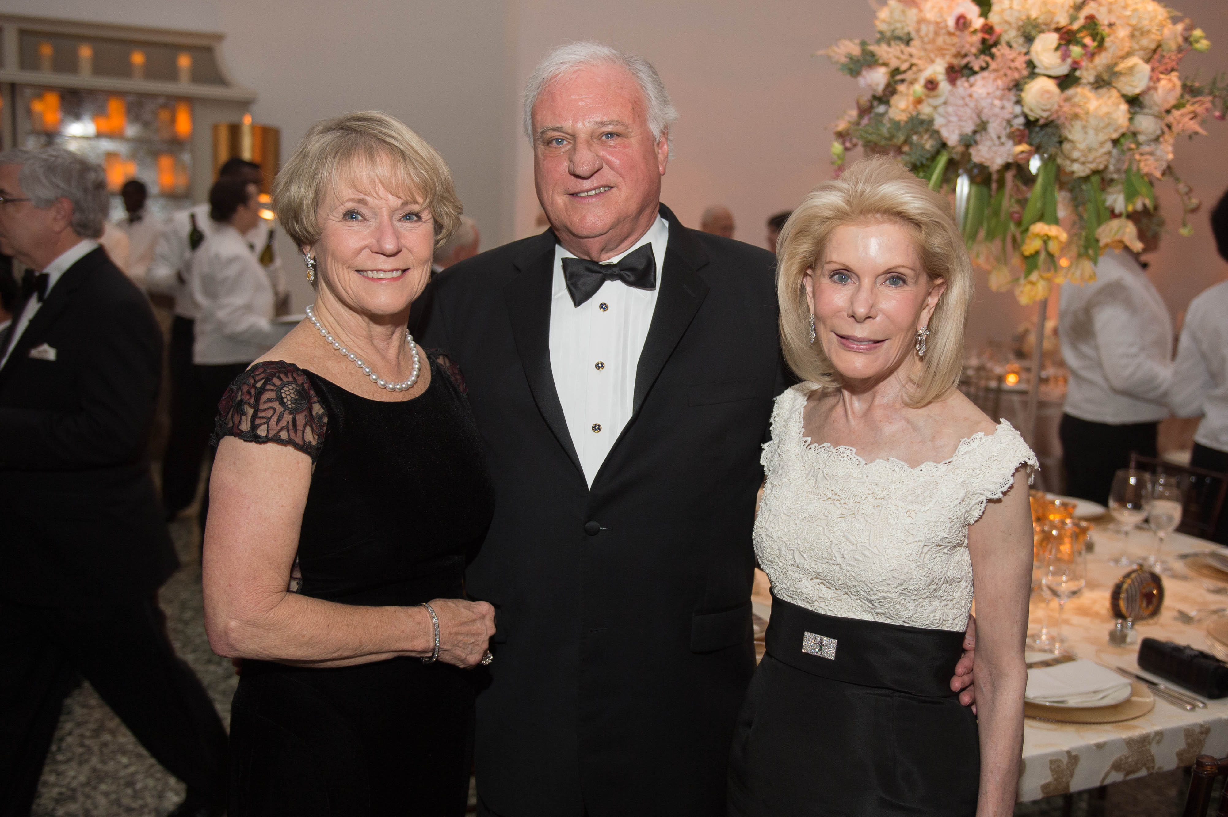 Lela and Robin Gibbs; Frances Marzio; Photo by Wilson Parish