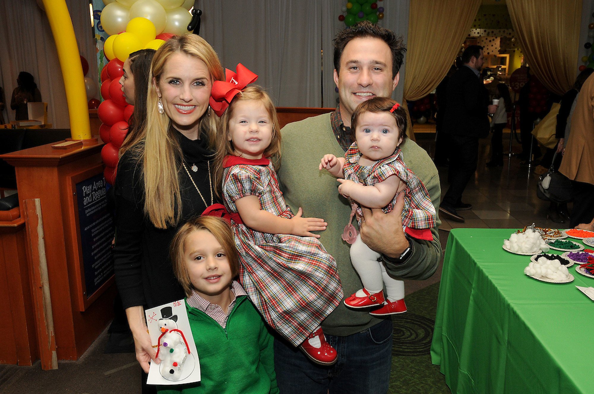 Laine and David Santamaria with Mac, Edie and Annie
