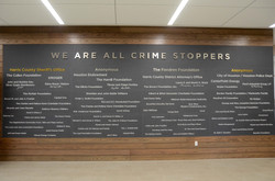 We Are All Crime Stoppers Donor Wall
