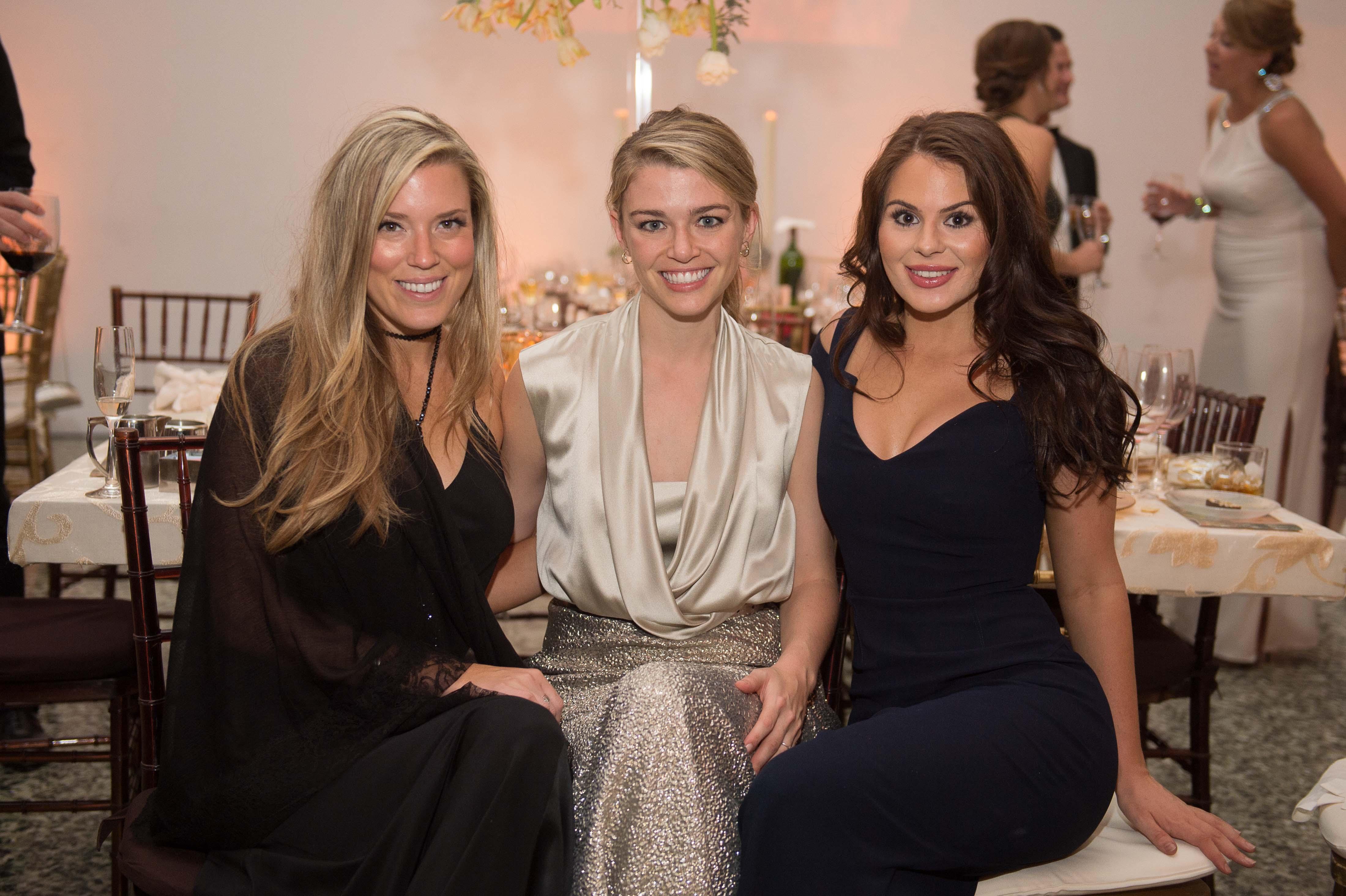 Holly Alvis; Brittany Sakowitz; Meredith Flores; Photo by Wilson Parish