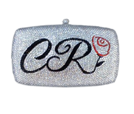 Personalized Crystal Clutch With Logo