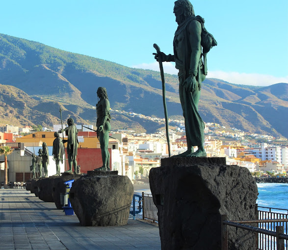 Guanche Statues at Candelaria