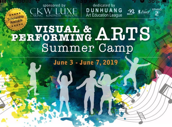 CKW LUXE Visual & Performing Arts Summer Camp 2019