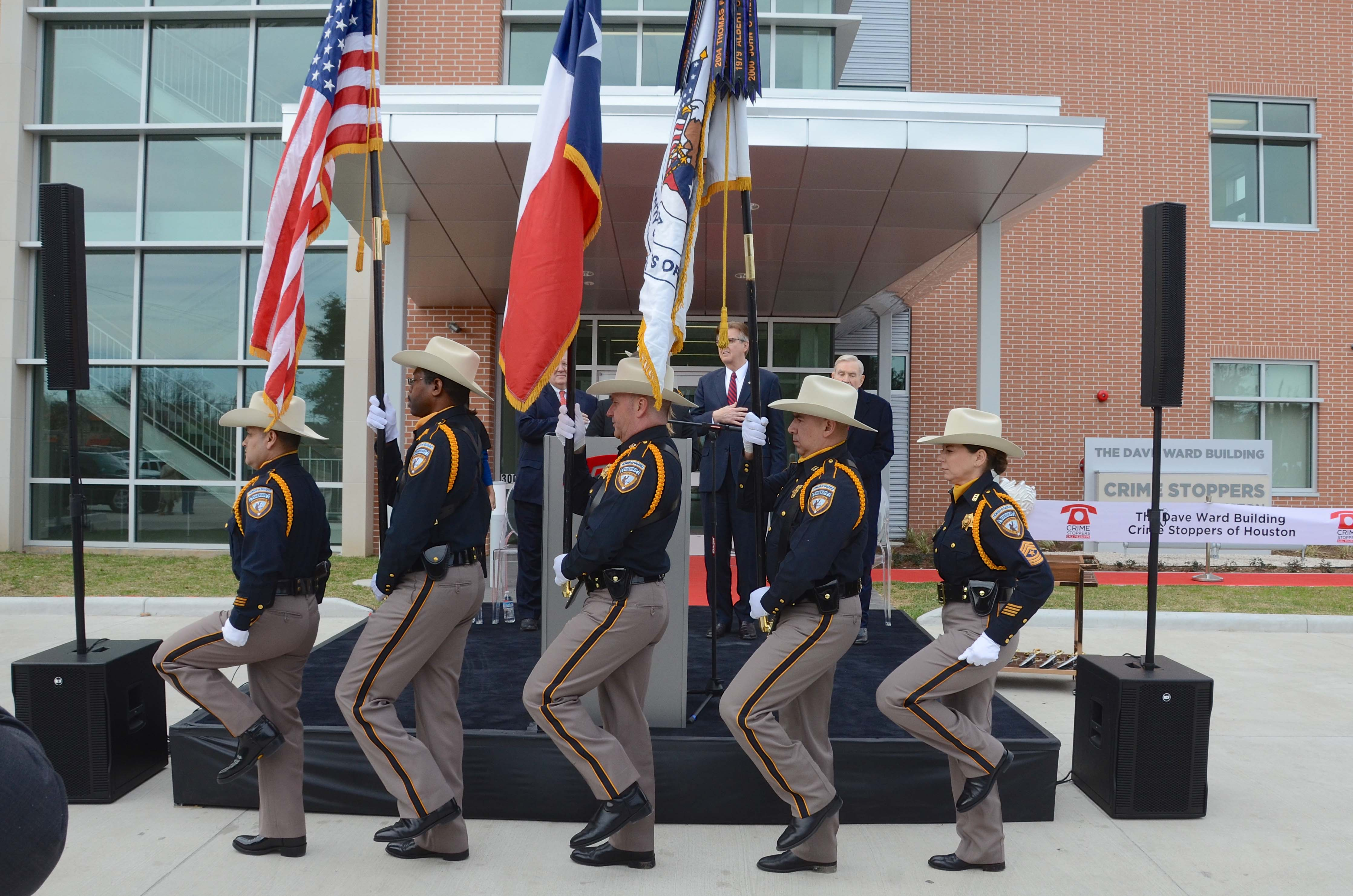 Presentation of colors by the Harris County Sheriff's Office Honor Guard