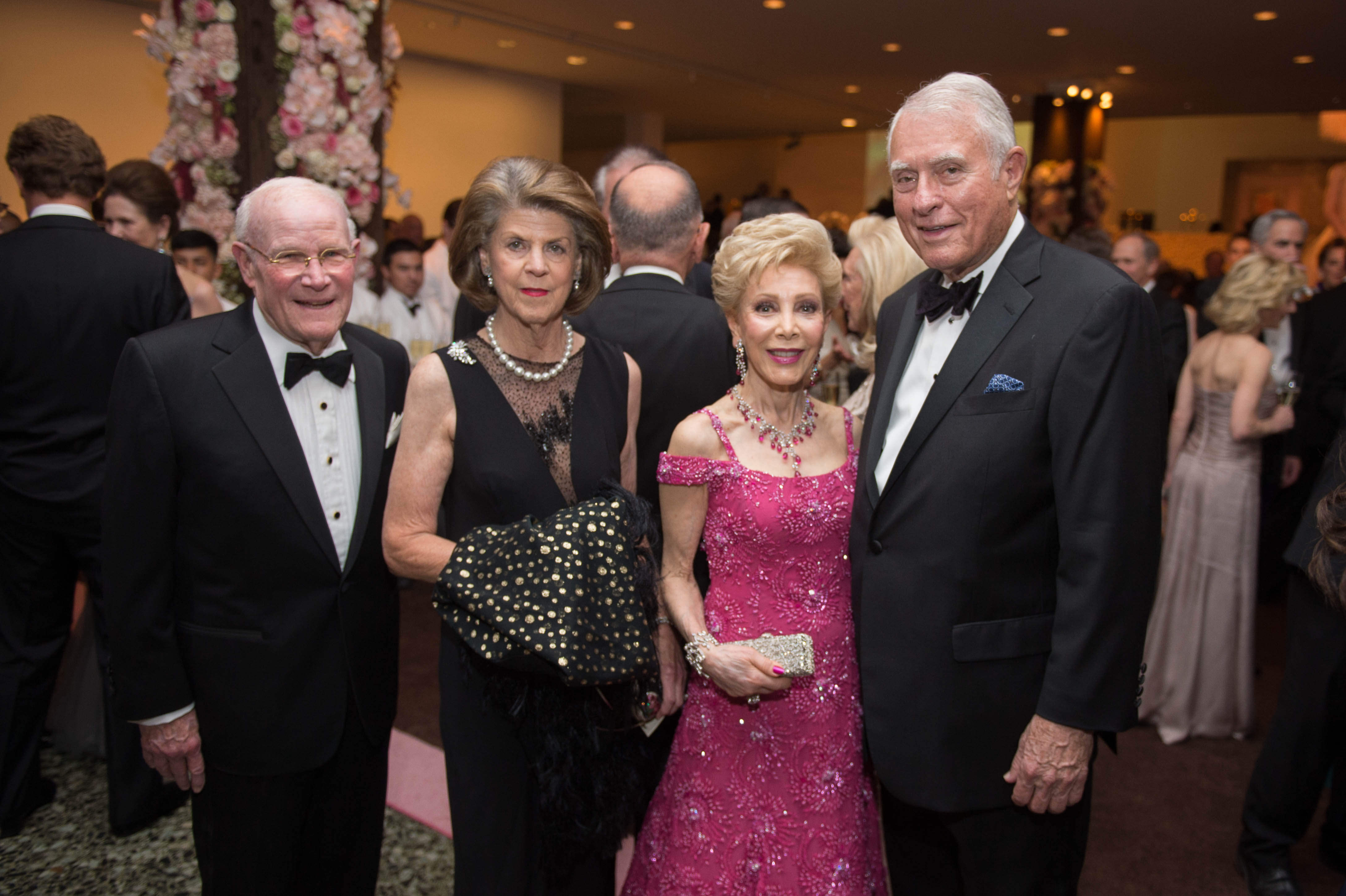 Rodney and Judy Margolis; Margaret Alkek Williams and Jim Daniel; Photo by Wilson Parish