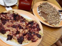Frutas del Bosque Crepe and Nutella Crepe