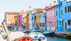 Colorful Buildings in Burano
