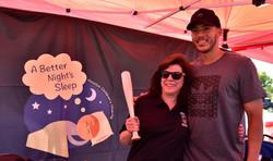 Laura Ward & Carlos Correa at A Better Night's Sleep 2016 Bed Distribution_Image Courtesy of Houston
