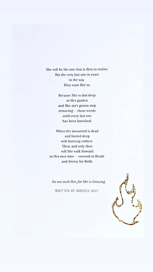 A4 Poetry Print - with Gold Leaf Flame