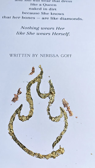 A3 Poetry Print - with Gold Leaf Flame
