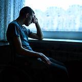 Alone broken sullen young teen guy perso