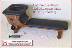 Red Mahogany Stain, Black Upholstery