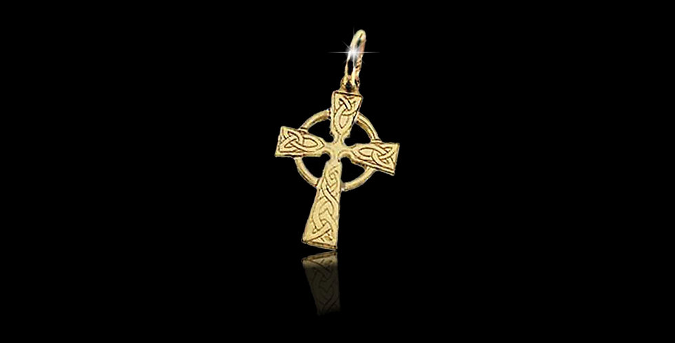 Cymru Gold Welsh Gold Celtic Cross Charm 9ct WCH1