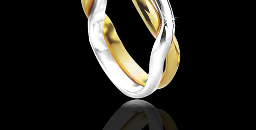 Lovers Kiss Welsh Gold Celtic Wedding Platinum and Yellow Gold 18ct