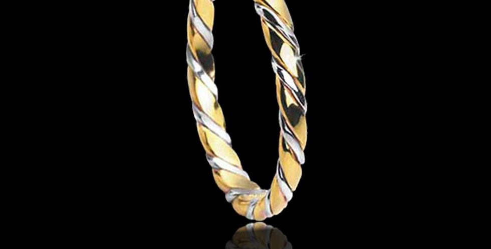 Lovers Loyalty Welsh Gold Celtic Wedding Ring White and Yellow Gold 9ct