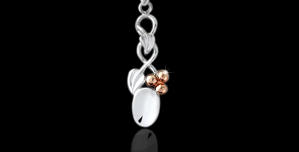 Cymru Gold Tree of Life Lovespoon in Silver and Rose Gold SWP96
