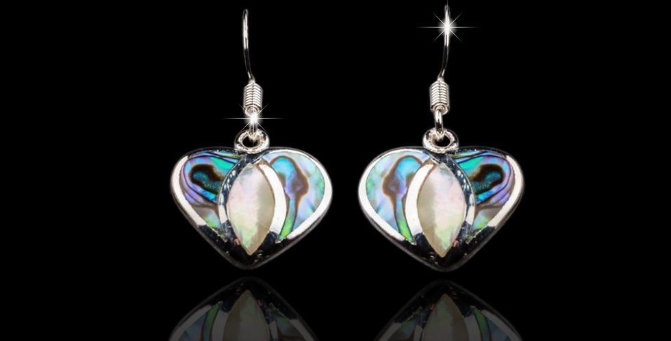 Welsh Design Abalone Shell Drop Earrings Stirling Silver MX45